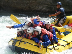Rafting at the Inca Jungle tour - Bike and HIke to MachuPicchu