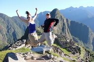 Tours of Machu Picchu, Jumping at Machu Picchu Site in 2013