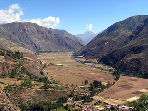 View of the Sacred Valley of the Incas - Cusco Peru.