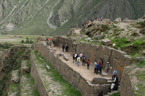 Ollantaytambo Archaeological Group in Cusco Peru