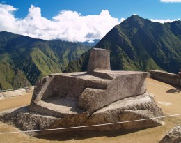 El reloj solar de Machu Picchu