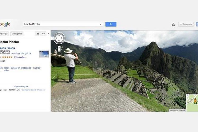 GOOGLE STREET VIEW regala Tour Virtual a Machu Picchu