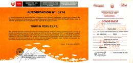 Ejemplo de licencias oficiales para agencias de viaje